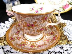 Royal Albert Tea Cup And Saucer True Love Pattern Tan & Roses Teacup Pattern