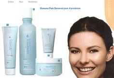 Linha Advanced Dynamics para pele sensível. Acalma e suaviza peles estressadas e irritadas.