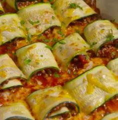 Zucchini Taco Roll-Ups will slash calories from your next Taco Tuesday.  Full recipe: http://dlsh.it/BZJljfX