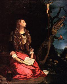 Alessandro Allori - Maddalena penitente - c. 1600-1602 - Museo Stibbert, Firenze Mary Magdalene, Michelangelo, Christian Art, All Saints, Santa Maria, 1602, Artwork, Firenze, Painting