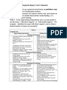 50 Quick Report Card Comments for Assessing Elementary Student Attitude and Effort Preschool Report Card Comments, Teacher Comments, Report Comments, Reading Strategies, Reading Comprehension, Kindergarten Report Cards, Kindergarten Assessment, Remarks For Report Card, Reading Process