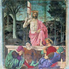"""PIERO DELLA FRANCESCA: """"La Resurrección"""", fresco en Arezzo."""