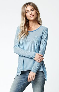 Lived In Stripe Long Sleeve Top