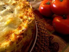 Spaghetti Pie - this is done in a silicone springform pan with a glass bottom from Prepared Pantry.