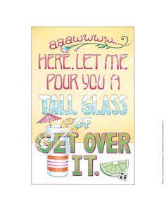 Tall Glass Fine Print – Mary Engelbreit Studios