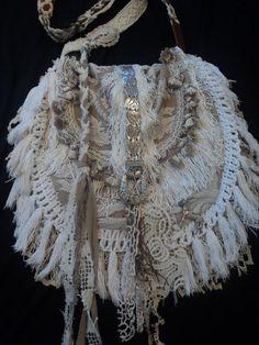 Handmade Cross Body Boho Bag Gypsy Purse Hippie Lace Fringe Western tmyers  #Handmade #MessengerCrossBody