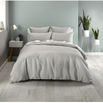 Deco Waffle Silver Queen Quilt Cover Set