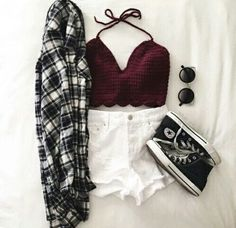 So Edgy #black #clothes #follow #grunge #hipster #outfits #winter #croptop