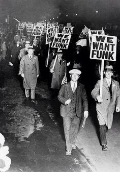 We Want The Funk. Pinned by my friend, Jim Demestihas.