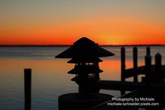 sunset, florida, nature, silhouette, pier, light, water, card, print, canvas, photography  (title: Laissez Le Bon Temps Rouler)
