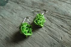 Pair of Miniature Lettuce Earrings  Gifts for Her  by SveaBrittas