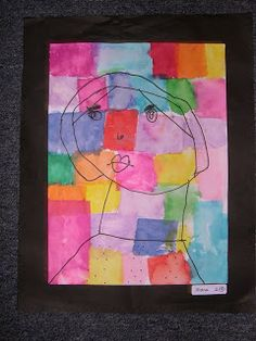 Self Portraits inspired by Paul Klee | Simply Art Lessons for Kids