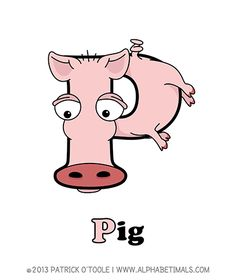 Pig - Alphabetimals make learning the ABC's easier and more fun! http://www.alphabetimals.com