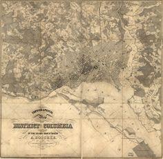 Incredible 1850s Map of Washington DC