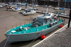 1950s Motor Torpedo Boat  P1041 - HMS Gay Archer in Watchet Harbour, Somerset BFD Mtb, E Boat, Submarines, Archer, Somerset, 1950s, Sterling Archer, Mountain Biking