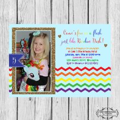 Rainbow Dash Inspired Birthday Party Photo by CAMRYNJOLEE on Etsy, $15.00