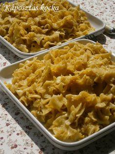Hankka-Káposztás Kocka (cabbage square noodles)