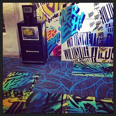 Carpet tiles #StreetThread #Graffiti # Mohawk Group