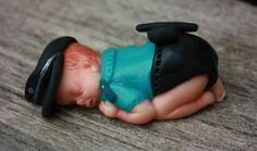 Babyshower caketopper; Police