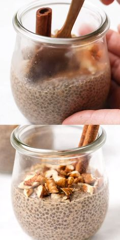 You are going to love this homemade Chai Latte Chia Pudding! Tastes so good and is naturally sweet. Healthy, easy, from-scratch recipe! Made with almond milk, almond butter, coconut sugar and chia seeds. Vegan and gluten-free! Good Healthy Recipes, Healthy Sweets, Healthy Snacks, Sweet Recipes, Healthy Eating, Mango Chia Pudding, Chia Pudding Coconut Milk, Chai Seed Pudding, Coconut Chia Pudding