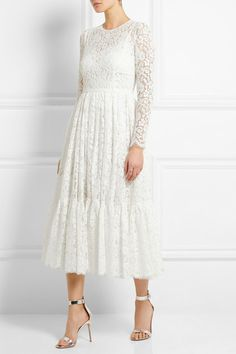 Dolce & Gabbana cotton-blend lace dress. Click for more info