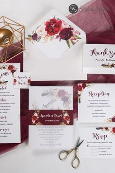 If you're looking for lace, flower crowns, flowy sleeves, and wildflowers, you must go with a bohemian chic wedding. And this invite is your best choice.