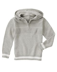 NWT Gymboree Boys STAR BRIGHTS Gray Half Zip Hooded Pullover Sweater Hoodie 4 4T #Gymboree #Pullover #DressyEverydayHoliday