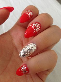 Red Nails, they're pretty but personally I don't like the somewhat pointed tips