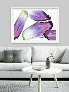 Home decor living room Purple Wall Decor, Purple Walls, Rooms Home Decor, Home Decor Items, Small Apartment Decorating, Still Life Art, Living Room Art, Small Apartments, Botanical Prints