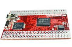 Spartan 6 CSG225 FPGA assembled board.