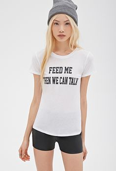 Feed Me Graphic Tee | FOREVER21 - 2000114754