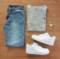 Outfit grid Light wash jeans - Mens Shirts Casual - Ideas of Mens Shirts Casual - Outfit grid Light wash jeans Komplette Outfits, Casual Outfits, Fashion Outfits, Fashion Trends, Summer Outfits, Fashion Styles, Grunge Outfits, School Outfits, Nike Shoes Outfits