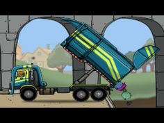 Trucks Cartoon for children   Truck with Service Vehicles   Garbage Truc...