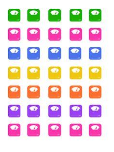 Free Printable Erin Condren Scale Stickers