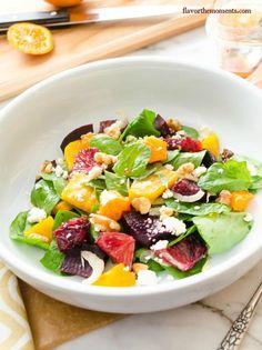 roasted-beet-citrus-salad-with-blood-orange-vinaigrette | flavorthemoments.com