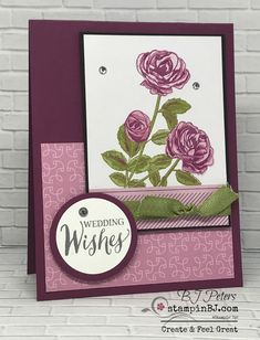Petal Garden Memories & More card pack makes for quick and gorgeous cards! #stampinBJ.com