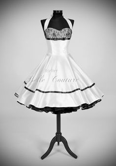 Petticoat Brautkleid im 50er Jahre Stil aus Taft nach deinen Maßen handgefertigt.
