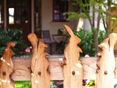 Take a picket fence and design the tops to look like bunnies, squirrels, and chickens to perk up your yard decor