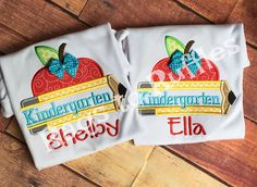 Back To School Personalized Shirt Personalized Kindergarten