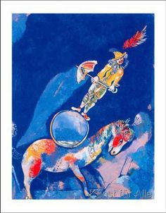 #Marc-Chagall #MarcChagall #Chagall Marc Chagall ~ Clown with horse