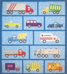 Just Trucks applique quilt pattern by Spring Creek NeedleArt