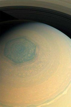 Hexagon at the pole of Saturn.my favorite planet Cosmos, Space Planets, Space And Astronomy, Planets And Moons, Deep Space, Space Travel, Space Exploration, Milky Way, Science And Nature