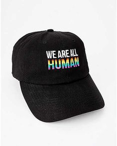f7b1fa12a This rainbow dad hat will show off your pride and your support. The  adjustable slide back closure makes for the perfect fit and all day comfort.