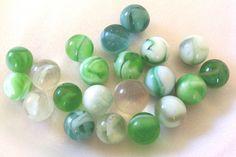 vintage green marbles