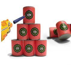 6pcs/lot Bullet targets shot dart target for  Blasters Darts toy gun soft bullet Annex