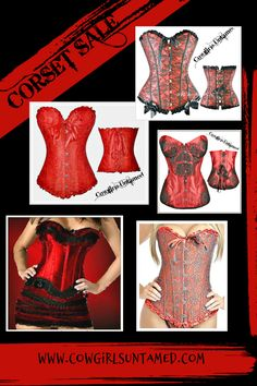 ALL CORSETS $34.99 or LESS & FREE USA SHIPPING w/ FREESHIP20! Order yours today! Misses & Plus Sizes! COWGIRLS UNTAMED wholesale & retail #corset #sale #freeshipping #women #sexy #laceup #tops #strapless #floral #red #straps #misses #plussize #lace #satin #ruffle #WildWest #women #fashion #outfit #wholesale #deals #onlineshopping #WildWest #cowgirl #western #Halloween #costume #shirt #leathercorset #floralcorset #blackcorset #lacecorset #skull #skullcorset #animalprint #bustier #denim #jean Cowgirl Style Outfits, Cowgirl Fashion, Cowgirl Outfits, Western Outfits, Lace Ruffle, Lace Dress, Corset Tops, Autumn Fashion Women Fall Outfits, Gypsy Clothing
