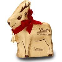 Lindt Chocolate Gold Reindeer 100g - Single reindeer