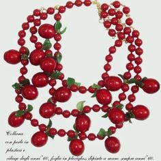 Spille Ornament Wreath, Swarovski, Wreaths, Jewels, Red, Vintage, Decor, Necklaces, Atelier
