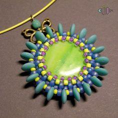 Tyrkysový mlýnek - náhrdelník