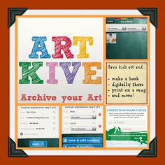 Kleinspiration: ArtKive: the clutter free way to save and enjoy children's artwork!